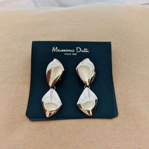 Massimo Dutti chunky gold earrings